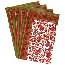 Table Placemats Set of 4 Indian Home Decor Summer Cotton Washable - £20.29 GBP
