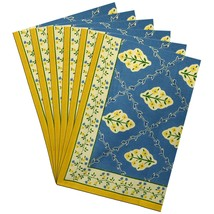 Table Decorations Indian Placemats Set of 6 Cotton Rectangular - £27.06 GBP