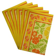 Rectangular Placemats Washable Set of 6 Cotton Spring Home Dcor - £27.06 GBP
