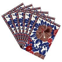 Colorful Placemats Canvas Cotton Floral Art Deco Set Of 6 - £30.71 GBP