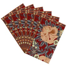 Colorful Fall Placemats Canvas Cotton Floral Art Nouveau Set Of 6 - £31.12 GBP
