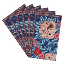 Colorful Placemats Canvas Cotton Floral Art Nouveau Set Of 6 - £30.71 GBP