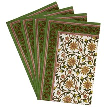 Summer Placemats Set of 4 Home Decorations Indian Cotton Washable - £20.29 GBP
