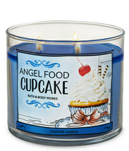 Bath & Body Works Angel Food Cupcake Three Wick.14.5 Ounces Scented Candle - $22.49