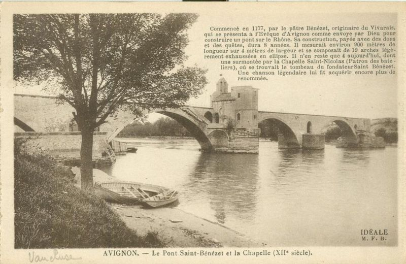 Avignon, Le Pont Saint-Benezet et la Chapelle, early 1900s unused Postcard CPA
