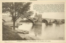 Avignon, Le Pont Saint-Benezet et la Chapelle, early 1900s unused Postca... - $5.99