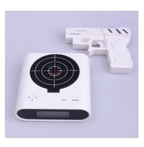 Laser Target Gun Alarm Clock with LCD Screen - $27.99