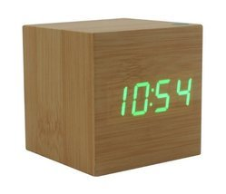 Wood Alarm Clock with Time, Temperature and Date Functions | Wooden LED ... - $24.95
