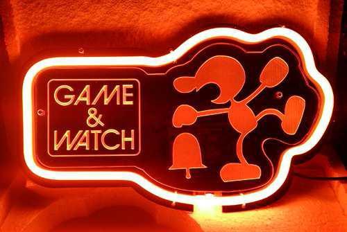 Sb382 mr. game   watch 3d acrylic beer bar neon light sign 12   x 7