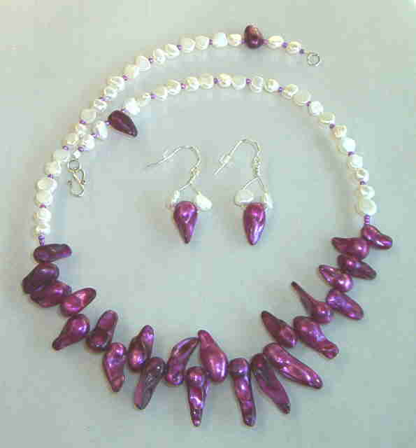 Necklace set, Simply Pearls #7-11M4990, Free Ship