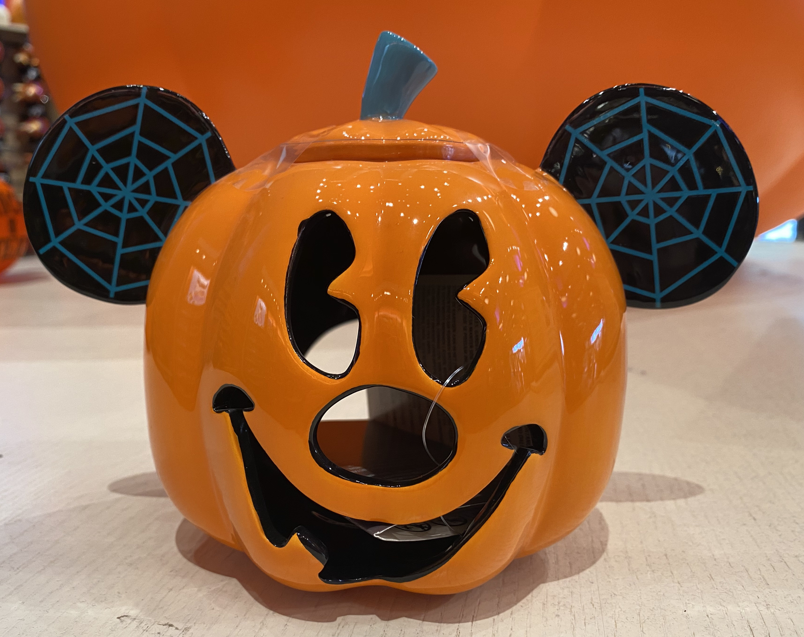 Disney Parks Mickey Mouse Pumpkin Halloween Votive Candle Holder New Disney Holiday