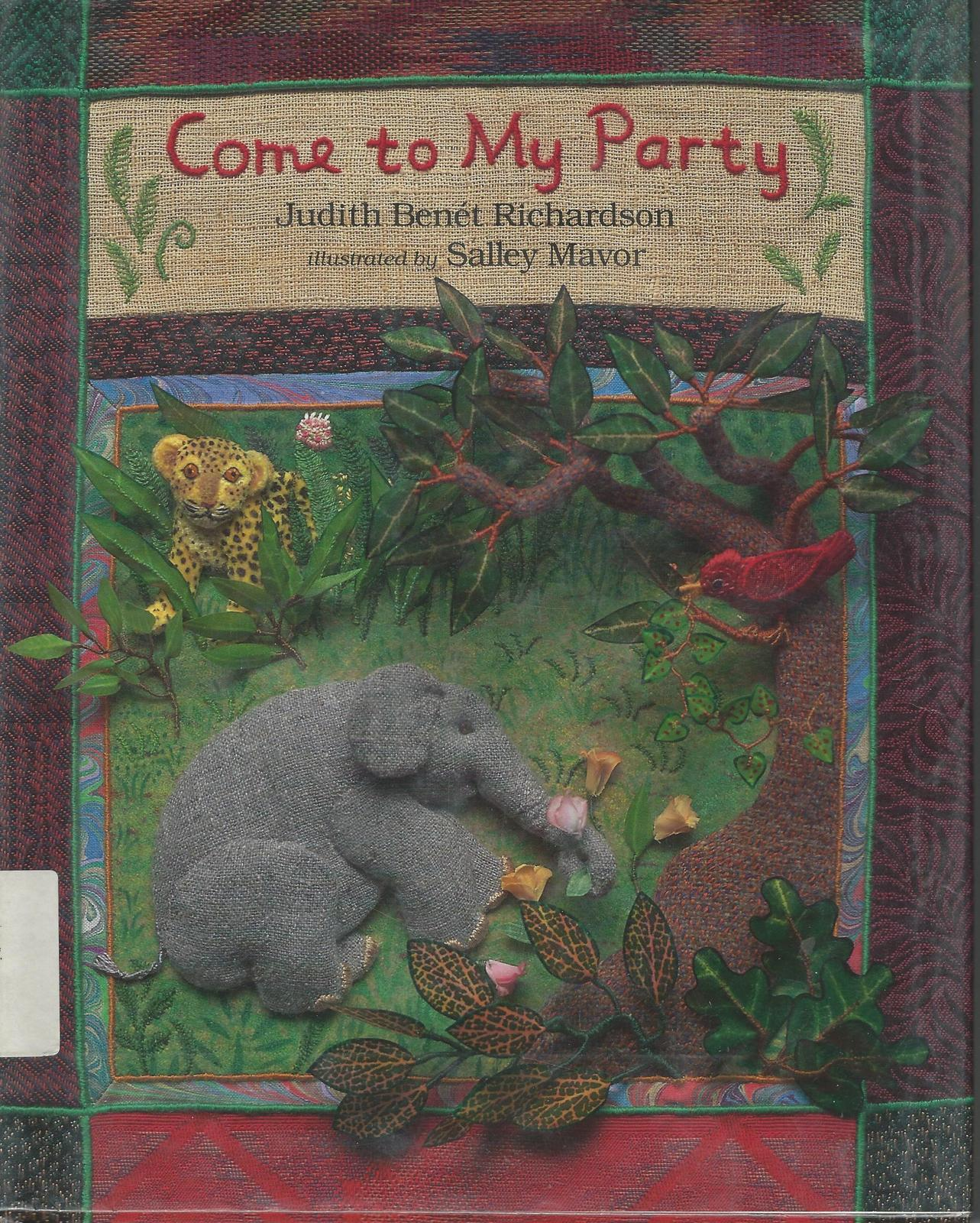Come to My Party-Judith Benet Richardson-Birthday Party-Fabric Relief Illustrati