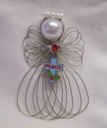 Christmas Peace Cross Angel Ornament Handmade New - $8.00