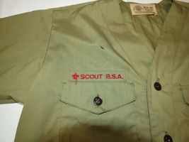 Boy Scouts of America Official Shirt boys youth short sleeve button up shirt image 3