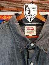 Levis Jean Shirt XL Jacket Dark Grey Stiff Denim New w/o tags -511 strauss - $25.71