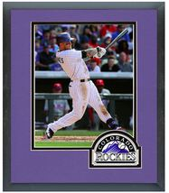 Brandon Barnes 2014 Colorado Rockies - 11 x 14 Team Logo Matted/Framed Photo - $42.95