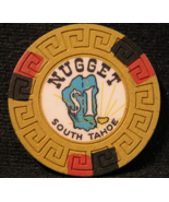 """1965 - Rare $1.00 Casino Chip From:  """"Nugget South Tahoe"""" - (sku#2378) - $20.87"""