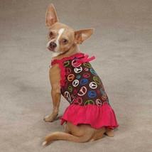 ESC Retro Peace Sign Dog Pet  Dog Dress Clothing Apparel Skirt Size Teac... - $8.90+