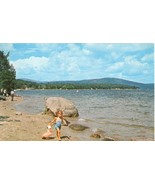 Scenic view on Newfound Lake, Bristol, New Hampshire, 1967 used Postcard  - $5.77