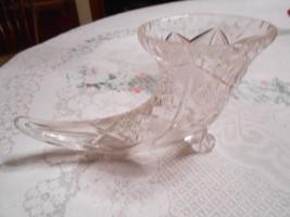 """Beautiful  Vintage Crystal """"Cornucopia"""" HORN OF PLENTY Vase--FREE POSTAG... - $37.21"""