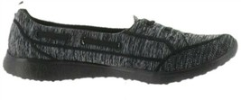 Skechers Microburst Bungee Slip-On Shoes-Topnotch Black 7M NEW A302829 - $49.48