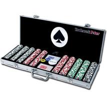 Poker Set Vegas Game Deluxe 500 Chips Aluminum ... - $99.98