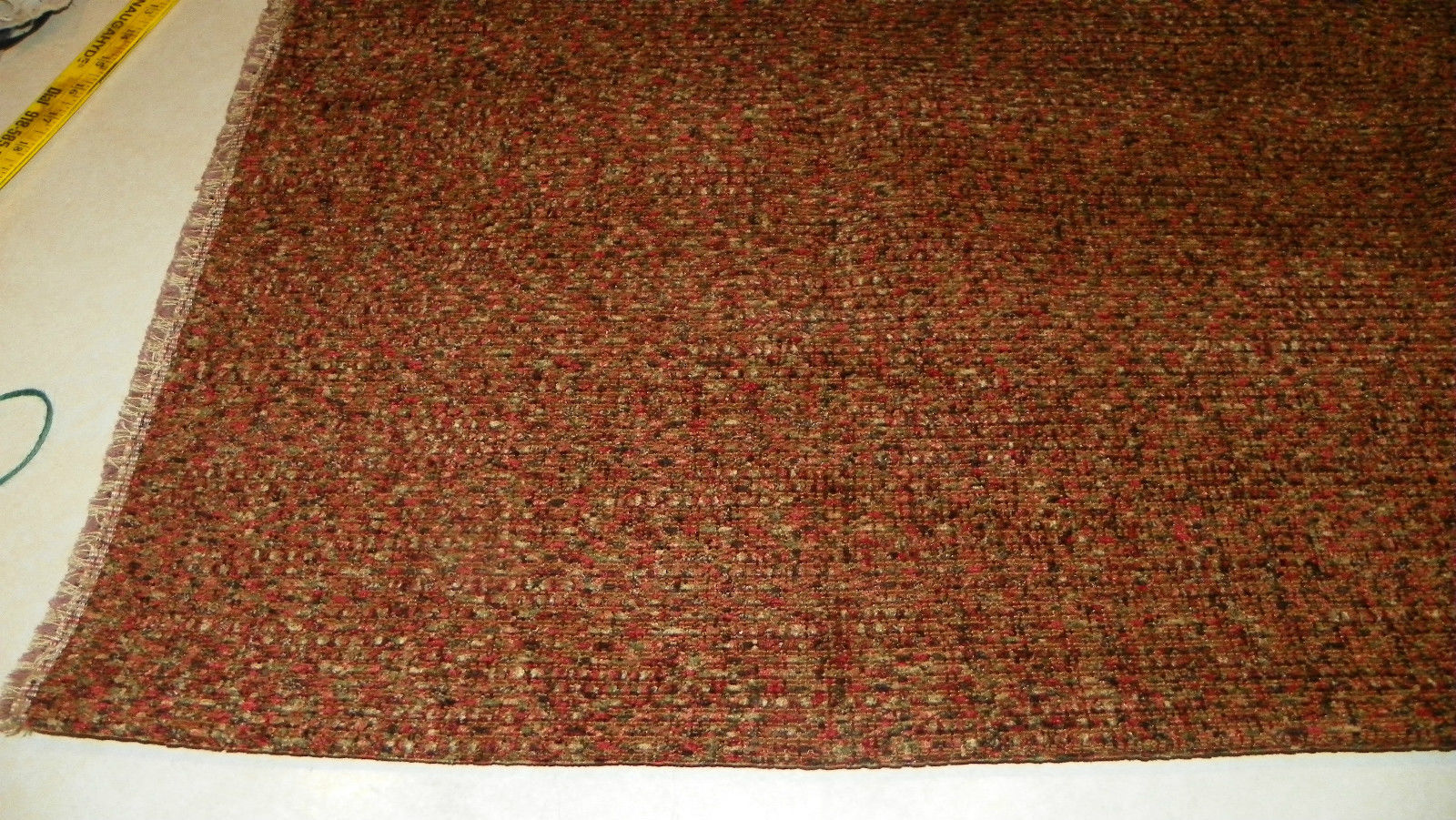 Black Orange Green Speckle Print Upholstery Fabric Remnant  F1251