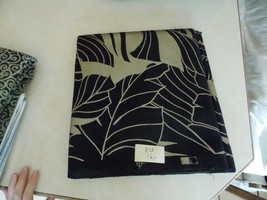 Black Gold Print Cotton Upholstery Fabric 1 Yard   F878 - $19.95
