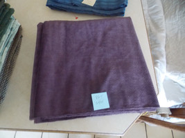 Dark Plum Chenille Upholstery Fabric Remnant  F865 - $29.95
