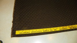 Brown Gold Diamond Print Damask Upholstery Fabric Remnant  F1265 - $49.95