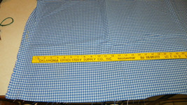 Blue White Check Print Upholstery Fabric 1 Yard  F1241 - $29.95