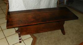 Mid Century Modern Solid Walnut Trestle Style Coffee Table  (CT12) - $449.00