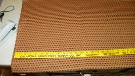 Burgundy Gold Check Print Chenille Upholstery Fabric 1 Yard  F1244 - $49.95
