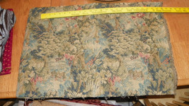 Green Print Tapestry Upholstery Fabric Remnant F505 - $69.95