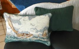 Pair of Sailboat Print Decorative Pillows - $59.95