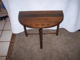 Mahogany Demilune Table / EntryTable  (T99 ) - $169.00