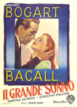The Big Sleep Poster 27 X40 In Italian Humphrey Bogart Lauren Bacall 69 X101 Cm  - $34.99