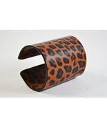 Handmade Leopard Print Cuff Leather Bracelet - $9.90