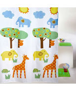 Colorful ANIMAL ZOO Cute Design 180 x210 cm PEVA Bathroom Use SHOWER CUR... - $23.99