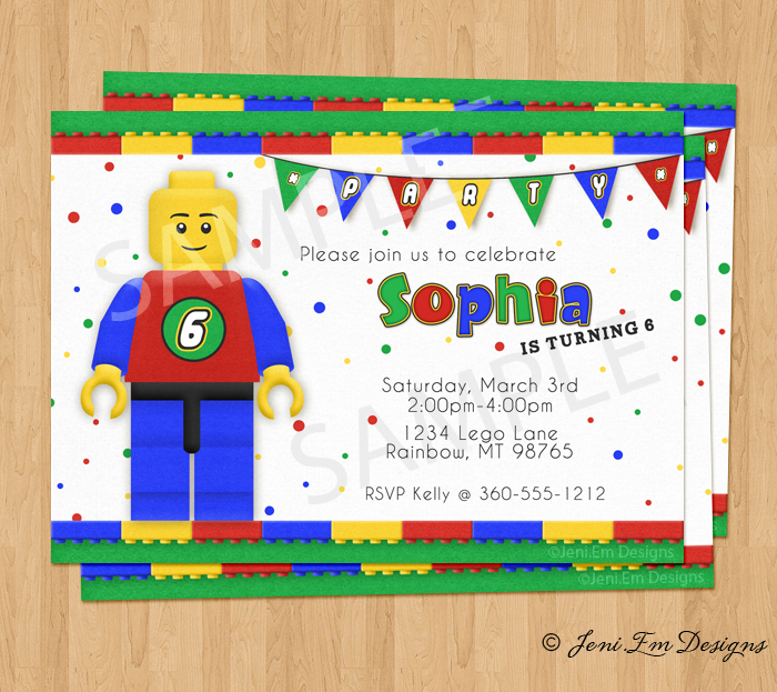 Legobirthdayinvite Preview1alt Previous Lego Birthday Party Invitation