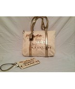 "Coach Limited Edition Poppy ""MADE FOR ME ""  Glam Tote W/matching Wristlet ~RARE - $225.00"