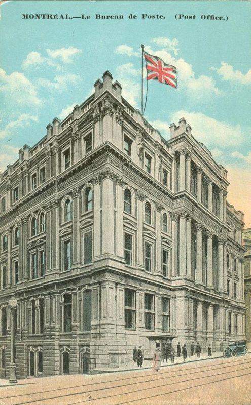 Canada montreal le bureau de poste post office early 1900s unused postcard canada - Bureau de poste montreal ...