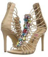 Penny Loves Kenny Women's Dare Embellished Nude Strappy Stiletto Sandal ... - $32.66