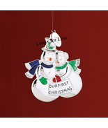 LENOX 2008 Our First Christmas Snow Couple Ornament  - $18.99