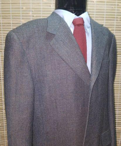 EUC Canali Proposta Gray Herringbone Pure Wool Sport Jacket 44R -Syd Jerome