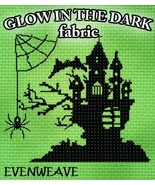 Glow-In-The-Dark 28ct Evenweave 18x19 1/4yd cross stitch fabric Fabric F... - $20.25
