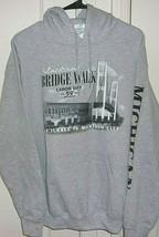 Gildan Mens Medium Hooded Mackinac Bridge Walk Long Sleeve Sweatshirt - $26.96