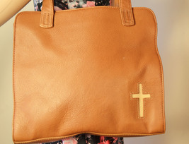 Free ship Rolf's Nice Soft Brown Leather Purse with Cross shoulder bag - $35.00