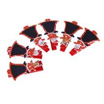 (Bell)6pcs/Lot 4.8cm Red Santa Claus Wood Clip Photos Clip Christmas Dec... - $14.00