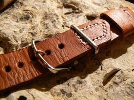 New 22mm Watch strap   Leather  Handmade bands strapwatch - $31.80